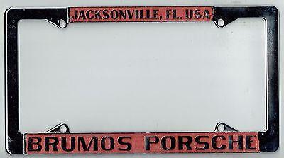 Rare Jacksonville Florida Brumos Porsche Vintage 911 912 356 License Plate Frame