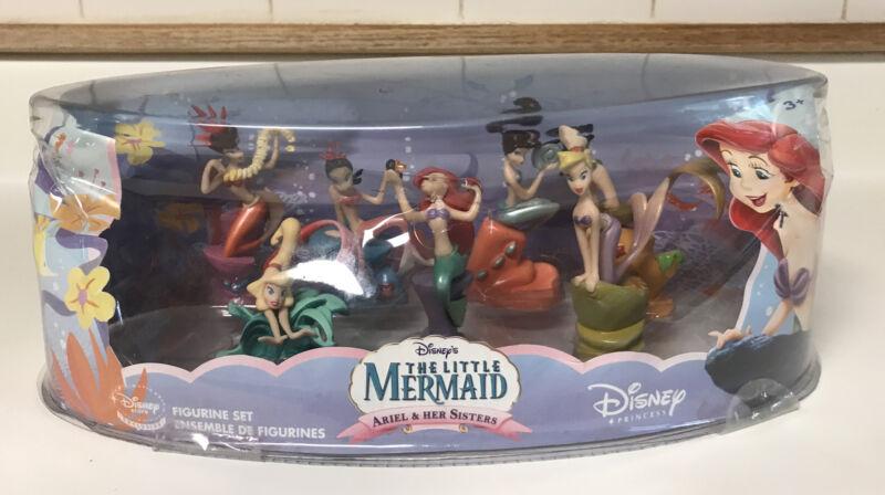 DISNEY STORE Little Mermaid ARIEL & HER SISTERS Figurine SET 7 PVC New Figurines