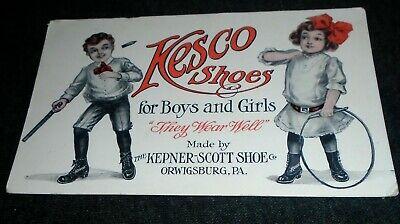 RARE Kesco Shoes, Kepner Scott Co, Orwigsburg Pennsylvania Vintage Postcard