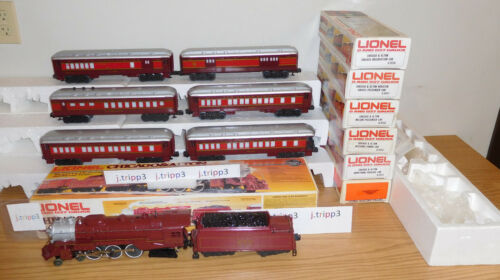 LIONEL #8101 CHICAGO ALTON STEAM ENGINE LOCOMOTIVE 6 CAR PASSENGER O GAUGE TRAIN