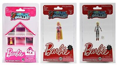 World's Smallest Barbie Dreamhouse and World's Smallest Barbie Series 2 Bundle