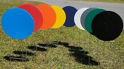 10 Pack Blank Yard Signs Circles 18 With H-stakes Pick Your Color