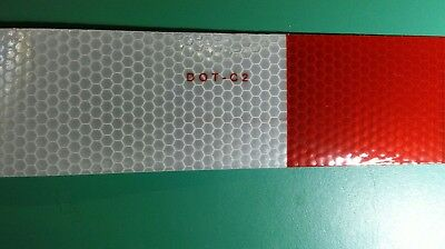Reflective Safety Tape Red White Tractor Trailers Rvs. Dot C-2. Ships Free.