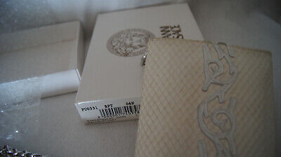 Gianni Versace White Portafoglio with Chain Vintage Gently Used in Box