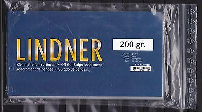 LINDNER KLEMMSTREIFEN-KILOWARE: 1.WAHL  200 GRAMM kristallklarem Hintergrund