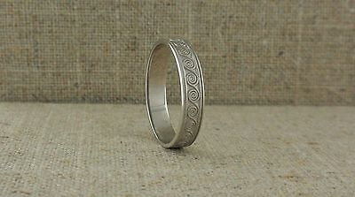 Sterling Silver Irish Celtic Spiral Wedding Ring Made in Ireland by BORU size 10
