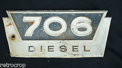 International Harvester Farmall 706 Diesel Aluminum Side Emblem Ih Tractor