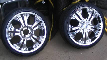 17 inch CHROME VAULT MAGS 4x 100 Lancer Corolla