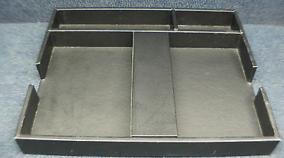 Sainberg Leather Desk Organizer Pen Stationairy Jewelry Office Tray Legal Letter
