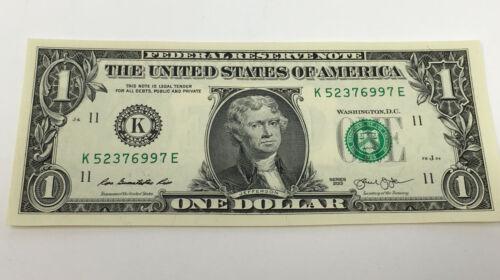 $1 BILL WITH JEFFERSON
