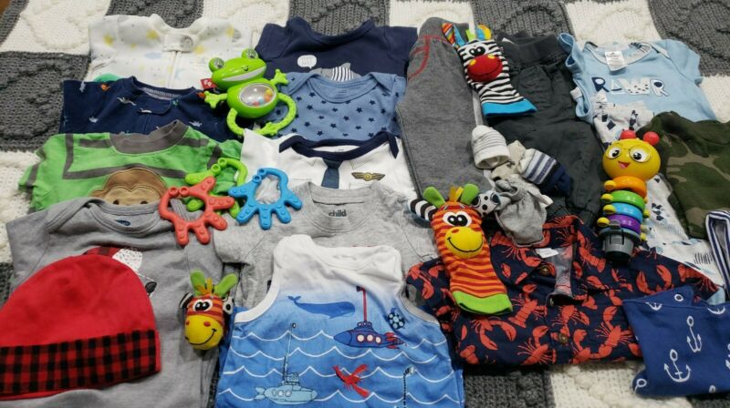 Baby Boy Clothes 0-3,3 Months Huge Lot 🥰👶😍