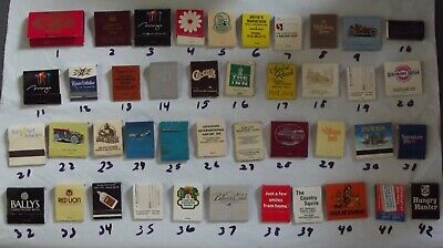 MATCH BOOKS Vintage Lot of 42 MATCHBOOK COVERS
