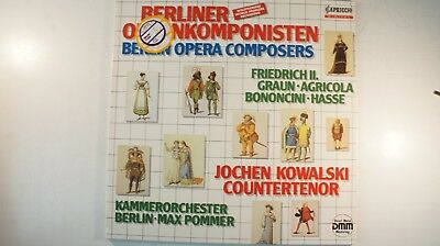 Berliner Opernkomponisten Jochen Kowalski Max Pommer DMM Capriccio 142810 LP77