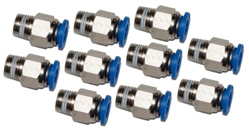 "10  pneumatic 1/4"" Tube x 1/8"" NPT Male Connector Push in to air Connect fitting"