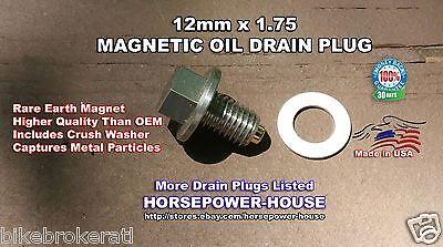 12 175 US Made MAGNETIC OIL DRAIN PLUG 1992 2017 CORVETTE 57 60 62 70 ALL