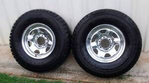 """16"""" 4X4 WHEELS AND TYRES WITH 95% TREAD 235/85R16 TRAILER USE Kallangur Pine Rivers Area Preview"""