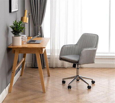 Velvet Office Chair Mid Back Home Executive Computer Chair With Soft Cushion