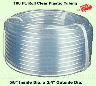 Clear Plastic Tubing 100 Roll 58 Inside Dia. X 34 Outside Dia Flexible