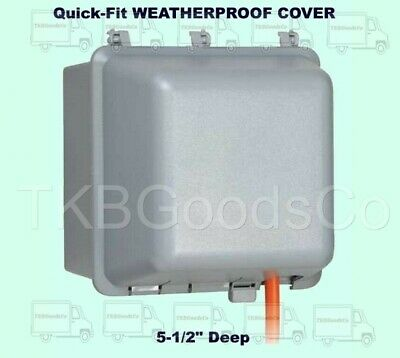Quick-fit Weatherproof Cover Outdoor Electrical Box Duplex Outlet Protector Gray