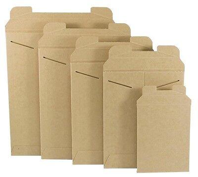 50 -  22 X 27 Rigid Kraft Stay Flats Mailers Tab Lock Mailing Envelopes