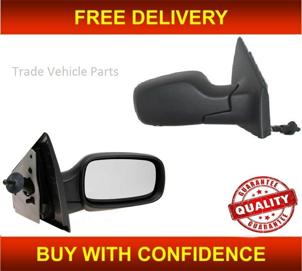 Renault Clio 2005-2009 Door Wing Mirror Cover Primed Passenger Side New