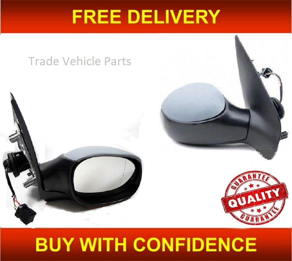 Peugeot 206 1998-2003 Door Mirror Electric Primed O//S Driver Right