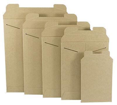 100  9-34 X 12-14 Kraft Stay Flat Rigid Tab Lock Photo Mailing Envelopes