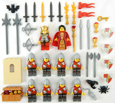 10 NEW LEGO CASTLE KNIGHT MINIFIG LOT Kingdoms LION figures minifigures people