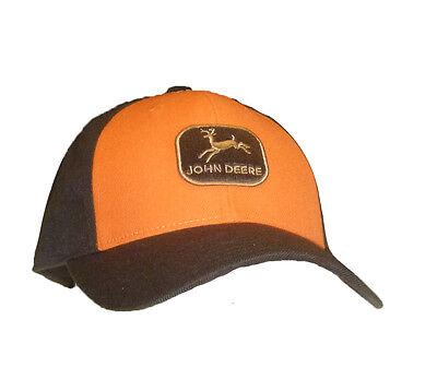 Vintage Fitted Cap (Einzelstück John Deere Cap Vintage Orange Braun  7 1/4 Unisex Fitted Snapback )