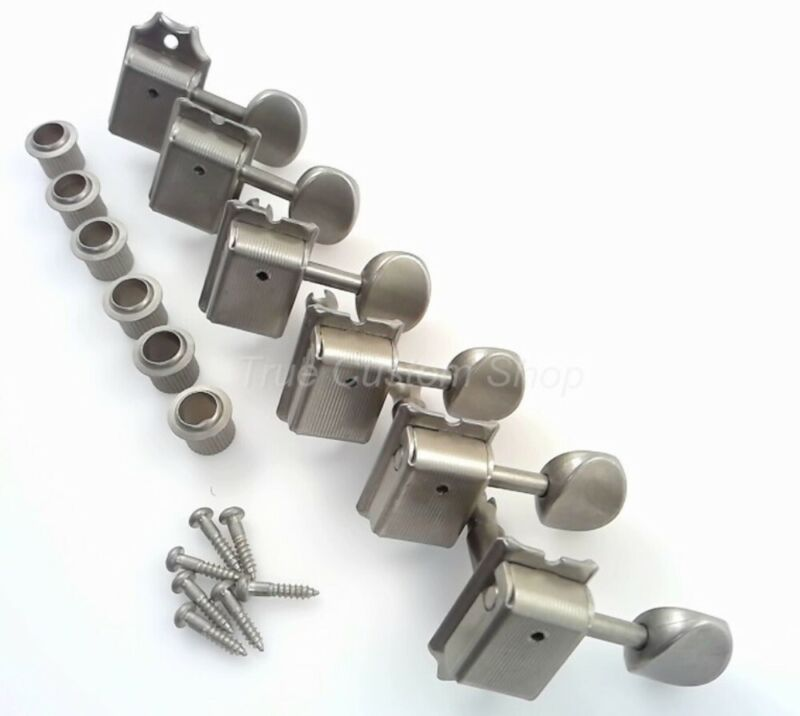 TCS® GOTOH SD91-05M AGED RELIC Nickel 6 In-Line Tuners for Fender Strat & Tele