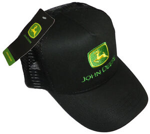 John Deere Deer Black Mesh Back Trucker Hat Cap ball cap baseball hat