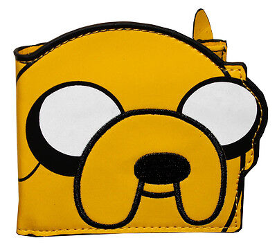 New Adventure Time Jake Yellow Bi-Fold Wallet Die Cut Cartoon Collectable  on Rummage