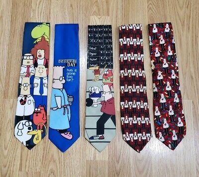 Dilbert Comics Neck Tie Bundle Christmas Tie Cartoon Ties ()