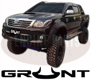 GRUNT 4X4 MONSTER JUNGLE FRONT WHEEL ARCH FLARES SUIT TOYOTA HILUX 2011 - 2015