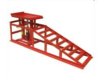 Metal Car Ramps, 4 Tonnes, Red, Unused (comes as a pair)