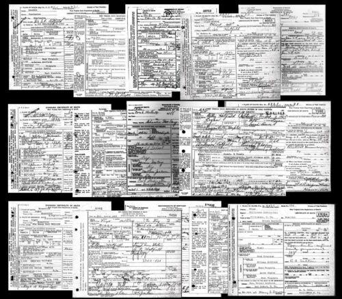 RARE Hatfield-McCoy Feud DEATH CERTIFICATES 15 Documents, KENTUCKY,West Virginia