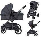X-Adventure Xplorer 3 in 1 Domino Dark Kinderwagen incl.
