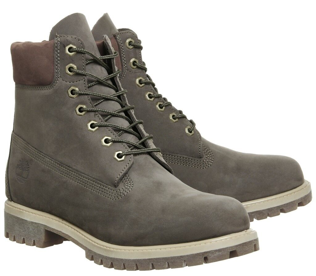 Timberland Mens 6 Inch Premium Boots Olive Green Brown Grey SIZE 10 UK   44.5 EUR MEN SHOES f3a56317b643