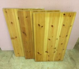 3 x JOINED PINE PIECES / BOARDS
