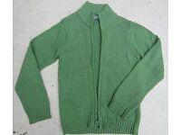 Boy's green La Redoute cardigan, 9-10yrs