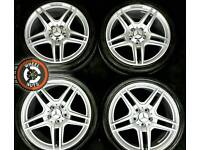"""18"""" Mercedes/AMG alloys new shape, staggered, refurbished, excellent tyres."""