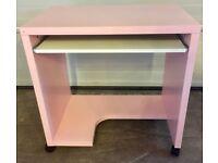 Computer Desk - Baby Pink