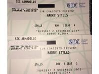 2 TICKETS FOR HARRY STYLES - SEC ARMADILLO, GLASGOW (All Seated Event) on 2.11.17 - Stalls