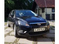 Ford Focus Zetec 1.6 (2009). Panther Black. 74000 miles. 12 mths MOT. Great car. Well cared for.