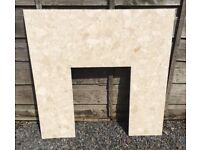 Good Condition Solid Marble Fire Surround Back Plate