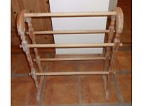 Old towell stand or quilt display stand