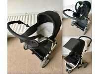 Mamas & Papas 3 in 1 Pushchair Carrycot Car Seat Pram Stroller Buggy Push Chair Cot £130 ONO