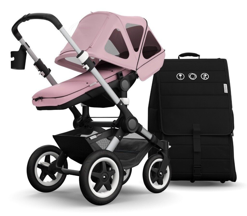 Bugaboo Buffalo Fantastic Condition With All Soft Pink Extras Travel Bag And More