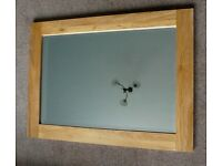"""Large Pine Framed Mirror 27"""" x 37"""" can be hung either way"""