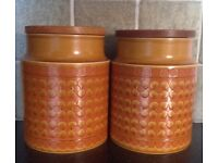 Retro Hornsea storage jars